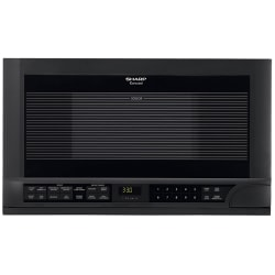 "Sharp R1210T Microwave Oven - Single - 11.22 gal Capacity - Microwave - 11 Power Levels - 1100 W Microwave Power - 14.13"" Turntable - Over The Range - Black"