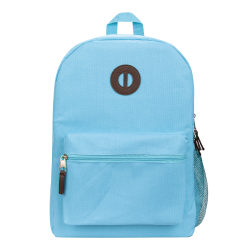 "Office Depot® Brand Basic Backpack With 16"" Laptop Pocket, Light Blue"