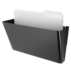 Brenton Studio™ Magnetic Wall Pocket, Letter Size, Black