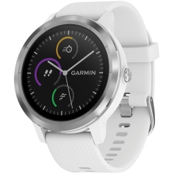 Garmin vivoactive 3 GPS Watch- White, Stainless - Glass Lens, Stainless Steel Bezel - Fiber Reinforced Polymer, Stainless Steel Case - Silicone Band