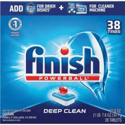 Finish Powerball Dishwasher Tabs, 38 Tabs Per Box