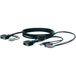 Belkin SOHO KVM Replacement Cable Kit - 6 ft KVM Cable - Gray