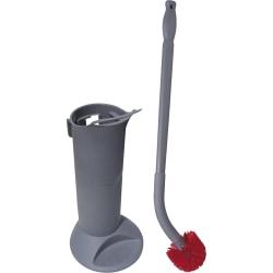 Unger® Ergo Toilet Brush System, Gray/Red