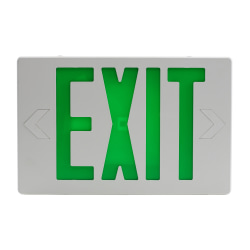 "Sylvania ValueLED ""Exit"" Sign/Emergency Light, 8""H x 19-1/2""W x 4-7/16""D, Green"