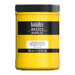 Liquitex Basics Acrylic Paint, 32 Oz Jar, Cadmium Yellow Medium Hue