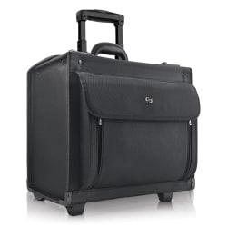 "Solo Classic Rolling Catalog Case For 17.3"" Laptops, Black"