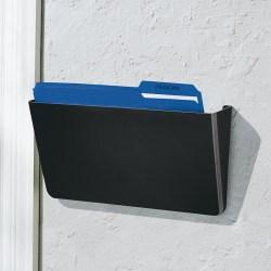 Brenton Studio™ Single Wall Pocket, Letter Size, Black