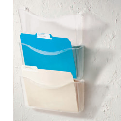 Brenton Studio® Unbreakable 3-Pocket Letter-Size Wall Files, Clear, Pack Of 3