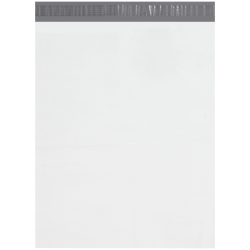 """Office Depot® Brand 19"""" x 24"""" Poly Mailers With Tear Strips, White, Case Of 250 Mailers"""