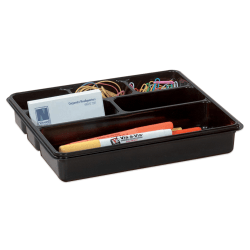 """Office Depot® Brand 6-Compartment Utility Tray, 8"""" x 9"""", Black"""