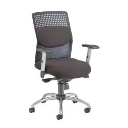 OFM AirFlo Series Fabric Chair, Black/Black-Silver