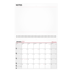 """Office Depot® Monthly Desk/Wall Calendar, 11"""" x 8-1/2"""", White, January To December 2021, OD301528"""