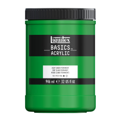 Liquitex Basics Acrylic Paint, 32 Oz Jar, Light Green Permanent