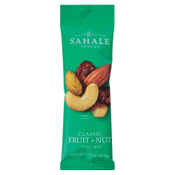 Sahale Snack Better Classic Fruit/Nut Trail Mix, 1.5 Oz, Pack Of 18