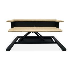 """Luxor Level Up Pro 32"""" Standing Desk Converter, White Oak"""