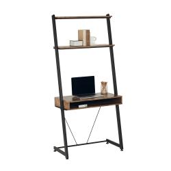 """Realspace® Belling 35""""W Leaning Computer Desk, Modern Oak"""