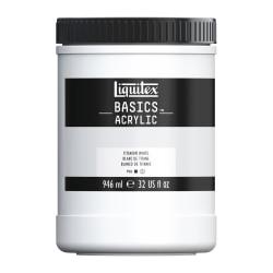 Liquitex Basics Acrylic Paint, 32 Oz Jar, Titanium White