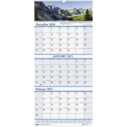 "House of Doolittle 14-Month Scenic Compact Wall Calendar, 8"" x 17"", Multicolor, December 2020 To January 2022"