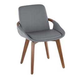 LumiSource Cosmo Chair, Walnut/Gray