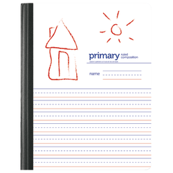 1InTheOffice Primary Composition Book 7 1//2 x 9 3//4 Unruled//Primary Ruled 6 Pack 100 Sheets