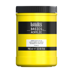 Liquitex Basics Acrylic Paint, 32 Oz Jar, Cadmium Yellow Light Hue