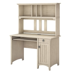 Bush Furniture Salinas Mission Desk With Hutch, Antique White, Standard Delivery
