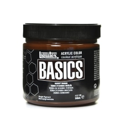 Liquitex Basics Acrylic Paint, 32 Oz Jar, Burnt Umber