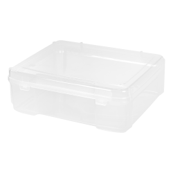 """IRIS Portable Project Cases With Handles, 24-5/8"""" x 17-7/8"""" x 15-7/8"""", Clear, Pack Of 4 Cases"""