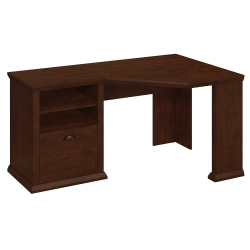 Bush Furniture Yorktown Corner Desk, Antique Cherry, Standard Delivery