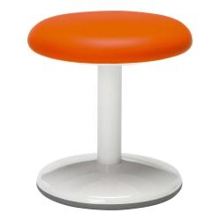 "OFM Orbit Static 14"" Stool, Orange/White"