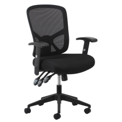 OFM Essentials 3-Paddle Ergonomic Mesh High-Back Chair, Black/Silver