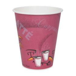 Solo® Bistro Design Hot Drink Cups, 12 Oz, Maroon, 50 Cups Per Bag, Carton Of 20 Bags
