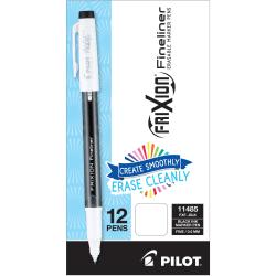 FriXion Fineliner Erasable Marker Pens - Fine Pen Point - 0.6 mm Pen Point Size - Black Gel-based Ink - 12 / Dozen