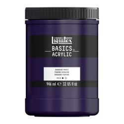 Liquitex Basics Acrylic Paint, 32 Oz Jar, Dioxazine Purple