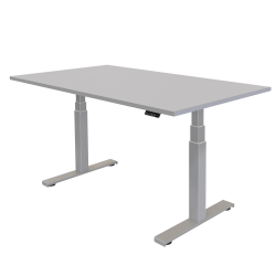 """Fellowes® Cambio Height-Adjustable Desk, 48""""W, Gray"""