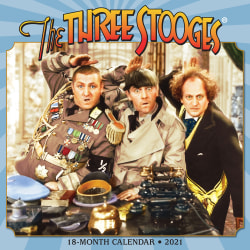 "Willow Creek Press Humor & Comics Monthly Wall Calendar, Three Stooges, 12"" x 12"", January To December 2021"
