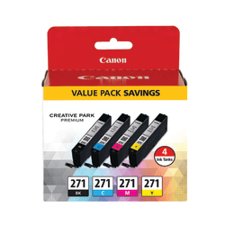 Canon CLI-271 Black/Cyan/Magenta/Yellow Ink Tanks (0390C005), Pack Of 4