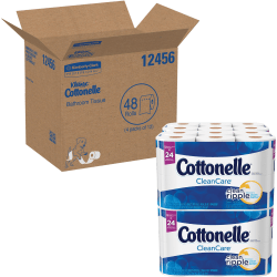 "Kimberly-Clark Cottonelle Ultra Soft Bath Tissue - 1 Ply - 4.20"" x 4"" - White - Soft, Durable - For Home, Office - 12 Rolls Per Pack - 4 / Carton"