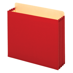 """Globe-Weis Heavy-duty File Cabinet Pocket - Letter - 8 1/2"""" x 11"""" Sheet Size - 875 Sheet Capacity - 3 1/2"""" Expansion - 22 pt. Folder Thickness - Tyvek - Red - Recycled - 10 / Box"""