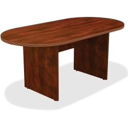 Lorell® Chateau Series Oval Conference Table, 6'W, Cherry