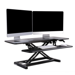 "FlexiSpot AlcoveRiser Sit-To-Stand Desk Converter, 42""W, Black"