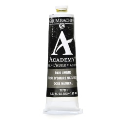 Grumbacher Academy Oil Colors, 5.07 Oz, Raw Umber, Pack Of 2