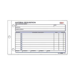 "Rediform Material Requisition Purchasing Forms - 50 Sheet(s) - 2 PartCarbonless Copy - 7 7/8"" x 4 1/4"" Sheet Size - White, Yellow - Black Print Color - 1 Each"