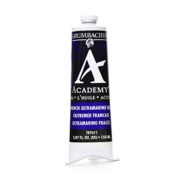 Grumbacher Academy Oil Colors, 5.07 Oz, French Ultramarine Blue, Pack Of 2
