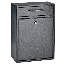 "Mail Boss Locking Security Drop Box, 16 1/4""H x 11 1/4""W x 4 3/4""D, Galaxy"