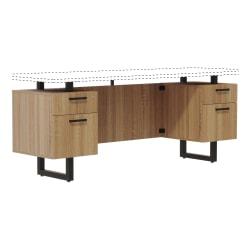 "Safco Mirella 66""W Freestanding Credenza Desk Pedestal Base, Sand Dune"