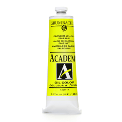 Grumbacher Academy Oil Colors, 5.07 Oz, Cadmium Yellow Pale Hue, Pack Of 2