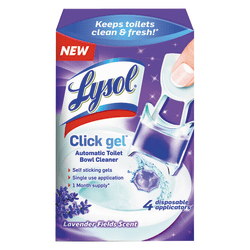 Lysol® Brand Click Gel™ Automatic Toilet Bowl Cleaner, 0.17 Oz, Lavender, Pack of 4
