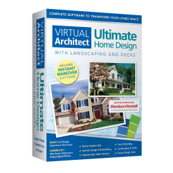 Nova Development Virtual Architect Ultimate Home Design With Landscaping And Decks, Disc