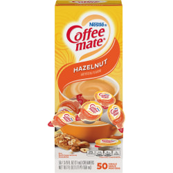 Nestlé® Coffee-mate® Liquid Creamer, Hazelnut Flavor, 0.38 Oz Single Serve x 50